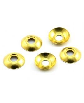 Capuchón 10mm, paso 2mm, baño de oro 22 kilates, (20 unidades)