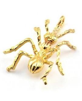 Colgante hormigas 27x22,5x5mm, paso 2,4mm, baño de oro 22 kilates