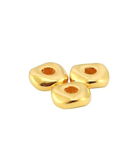 Cuenta rondel 4,8x1,9mm paso 1,4mm, zamak baño de oro (20 unidades)