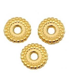 Donut 8mm paso 1mm, zamak baño de oro