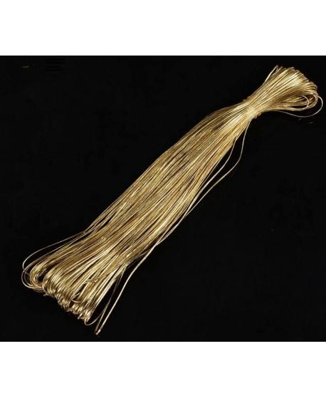 Cordón de cuero de PU dorado 2x1mm, precio por metro
