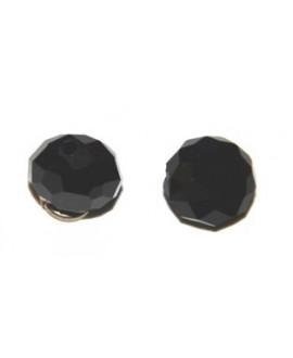 Cuenta cristal Swarovski chata negra 10mm, paso 1mm, precio por 25 unidades