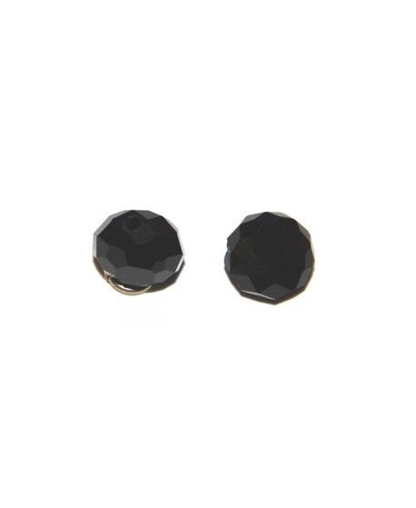 Cuenta chata negra 10mm, paso 1mm