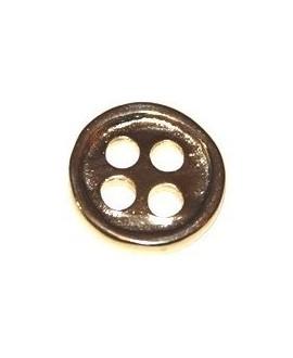Botón 23mm, zamak baño de oro