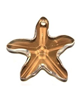 Colgante estrella de mar crystal golden 40mm