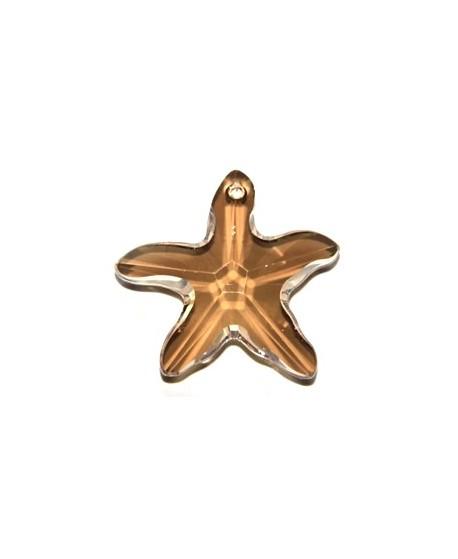 Colgante estrella de mar crystal golden 40mm