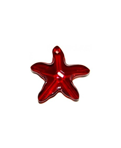 Colgante estrella de mar  red magma 40mm