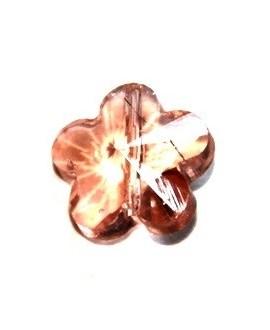 Entre-pieza flor salmón 6mm, paso 1mm