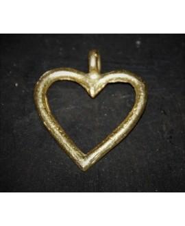 Colgante corazón de bronce 35x38mm, paso 4mm