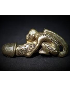 Amuleto/talismán Colgante Estatua de mono Paladkik, 42mm de latón brillo