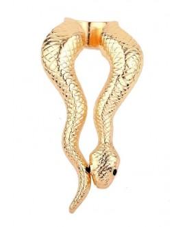 Anillo serpiente de metal, baño de oro