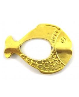 Entre-pieza pez 51x38x4mm, paso 2mm, baño de oro 22 kilates (unidad)