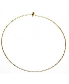 Collar hilo flexible dorado mate 1,5mm