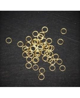 Anillas montaje 4x0,4mm, oro mate, precio por 50 unidades