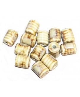 Cuentas de porcelana esmaltada 10mm paso 2mm, precio por 12 unidades