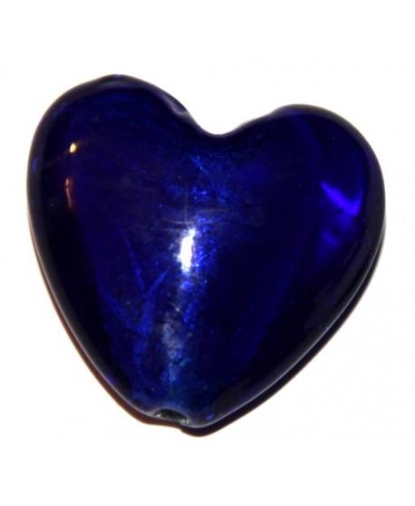 Corazón silver foiled gigante 35x38mm, paso 3mm