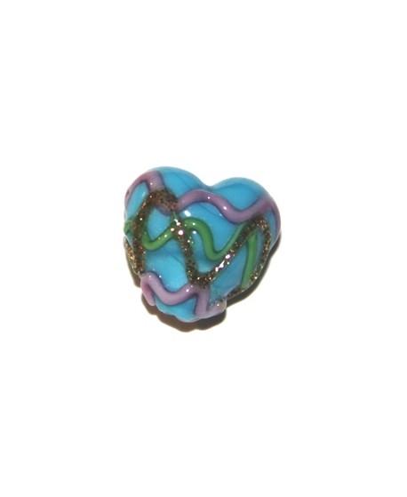 Corazón mini azul 15mm, paso1mm