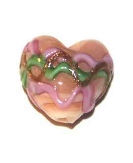 Corazón mini rosa 15mm, paso1mm