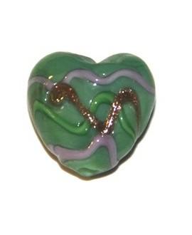 Corazón mini verde 15mm, paso1mm