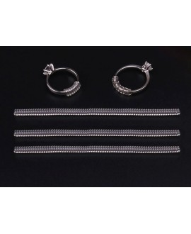 Espiral para ajustar tamaño de anillo transparente 100x4mm