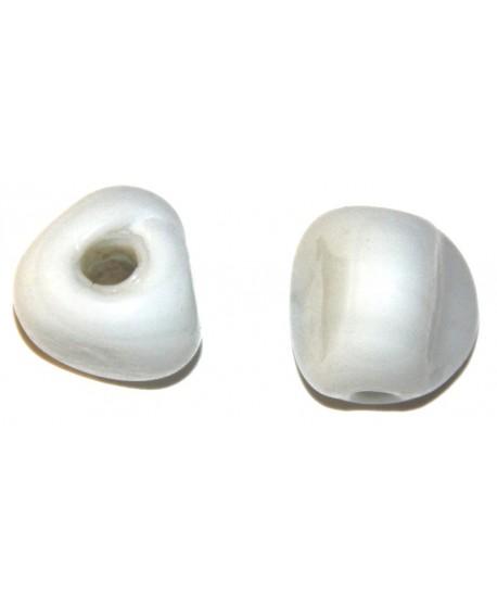 Cuenta blancas redondas grandes, precio por 100 gramos