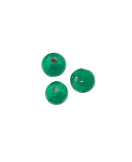 Cuenta 6mm paso 1,5mm verde, precio por 25 unidades