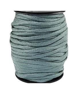 Cordón trendy Paracord 4mm verde/gris, precio por metro