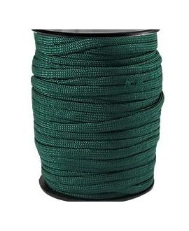 Cordón trendy Paracord 4mm verde esmeralda oscuro, precio por metro