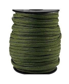 Cordón trendy Paracord 4mm verde militar, precio por metro