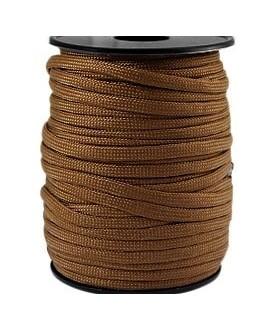 Cordón trendy Paracord 4mm marrón, precio por metro