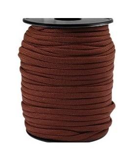 Cordón trendy Paracord 4mm marrón chestnut, precio por metro