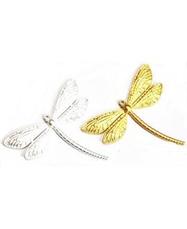 Colgante libélula  85x112mm paso 4mm, metal mate