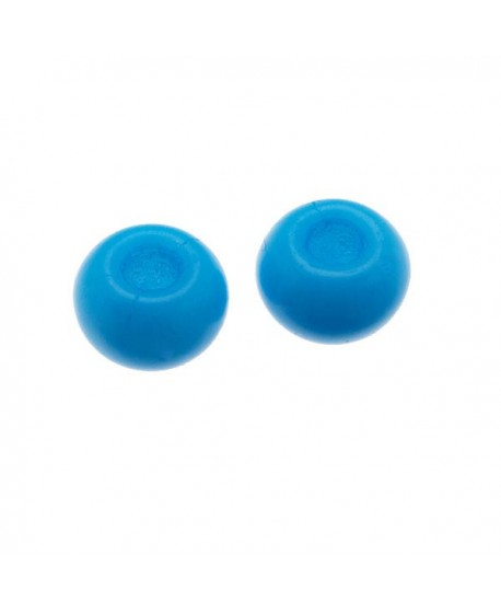 Donut de vidrio azul claro mate de 7x4mm, paso 2,4mm, precio por 20 unidades