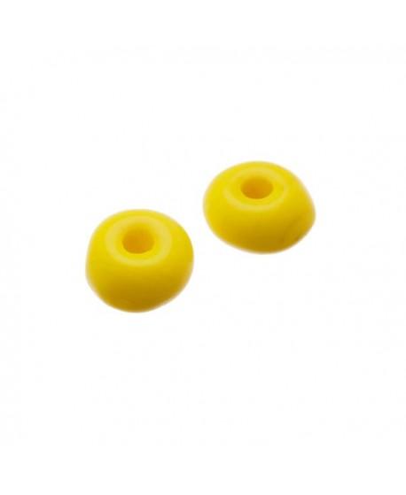 Donut de vidrio de color amarillo de 6x4mm paso 1,5mm, precio por 25 unidades