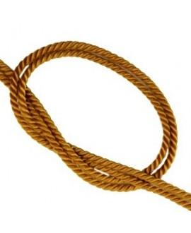 Cordón trendy tejido Marrón dorado 2mm, venta por metro
