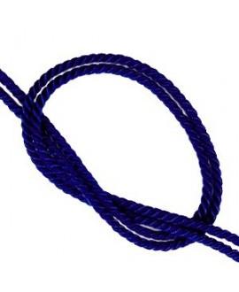 Cordón trendy tejido DEEP BLUE 2mm, venta por metro