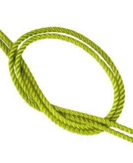 Cordón trendy tejido Verde pistacho 2mm, venta por metro