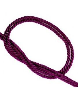 Cordón trendy tejido púrpura 2mm, venta por metro