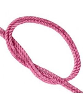 Cordón trendy tejido Rosa vintage 2mm, venta por metro