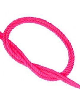Cordón trendy tejido Rosa neón 2mm, venta por metro