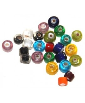 Mix rondel cristal indio 5mm , paso 1mm, precio por 10 unidades