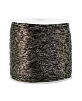 Hilo macramé metálico 0.5mm, precio por carrete, Antracita
