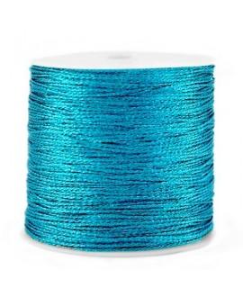 Hilo macramé metálico 0.5mm, precio por carrete, Azul azure
