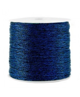 Hilo macramé metálico 0.5mm, precio por carrete, Azul oscuro