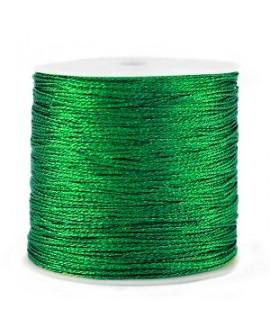 Hilo macramé metálico 0.5mm, precio por carrete, Verde irlandés