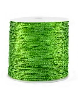 Hilo macramé metálico 0.5mm, precio por carrete, Verde