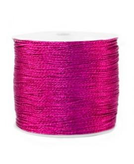 Hilo macramé metálico 0.5mm, precio por carrete, Frambuesa rosa púrpura