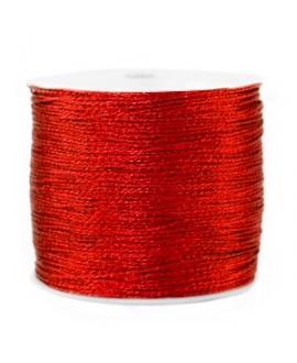 Hilo macramé metálico 0.5mm, precio por carrete, rojo