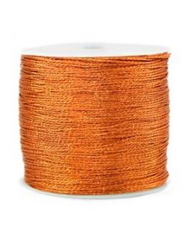 Hilo macramé metálico 0.5mm, precio por carrete, Naranja óxido
