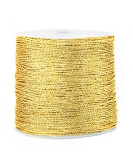 Hilo macramé metálico 0.5mm, precio por carrete, CORNSILK GOLD
